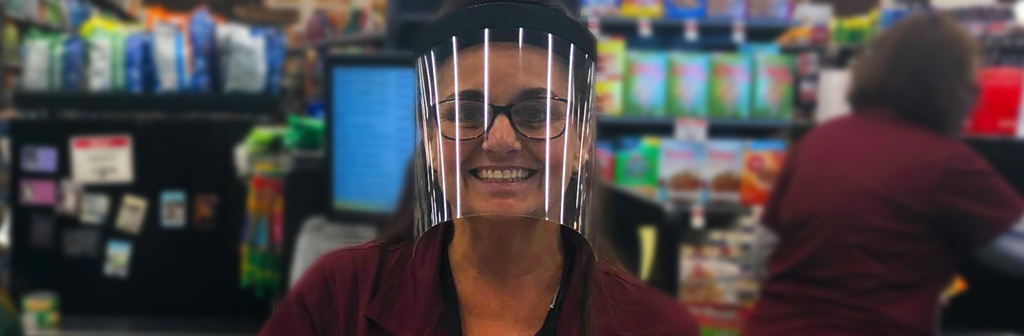 Grocery Stores Face Shields